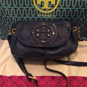 Tory Burch Leather Maisey Crossbody Satchel Bag